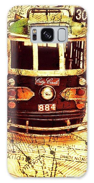 Cart Galaxy Case - Australia Travel Tram Map by Jorgo Photography - Wall Art Gallery