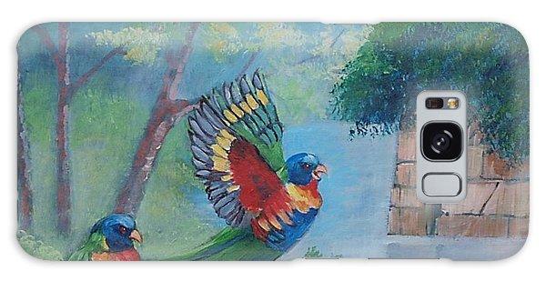 Australian Rainbow Parrots Galaxy Case