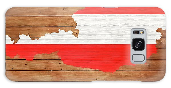 Traveler Galaxy Case - Austria Rustic Map On Wood by Dan Sproul