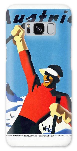 Austria Ski Tourism - Vintage Poster Restored Galaxy Case