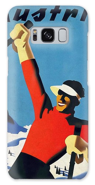 Austria Ski Tourism - Vintage Poster Vintagelized Galaxy Case