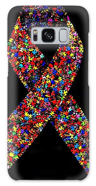 Autism Awareness Ribbon  Galaxy Case