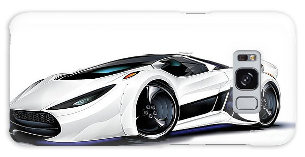 Galaxy Case featuring the drawing Automobili Lamborghini Concept by Brian Gibbs