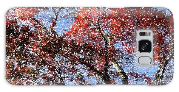Autum Trees Illustrated Galaxy Case