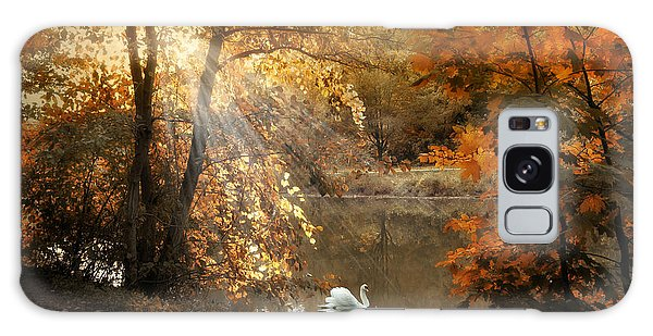 Galaxy Case featuring the photograph Autumn Afterglow by Jessica Jenney