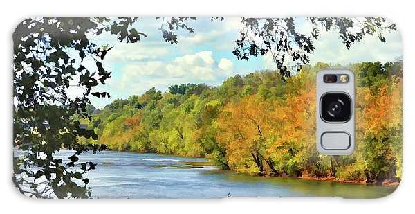 Autumn Along The New River - Bisset Park - Radford Virginia Galaxy Case