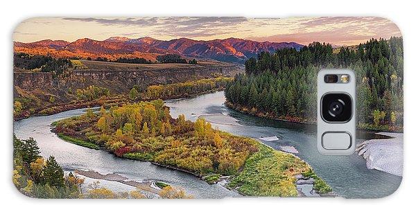 Autumn Along The Snake River Galaxy Case