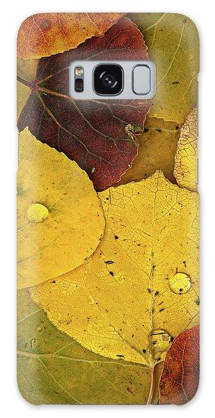 Autumn Aspen Leaves Galaxy Case