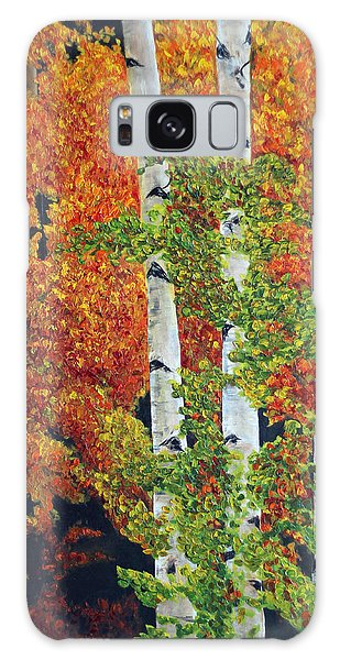 Autumn Aspens Galaxy Case