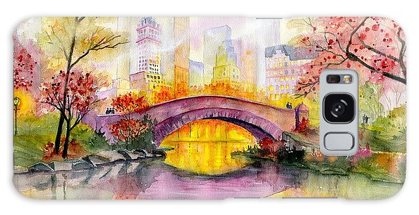 Architecture Galaxy Case - Autumn At Gapstow Bridge Central Park by Melly Terpening