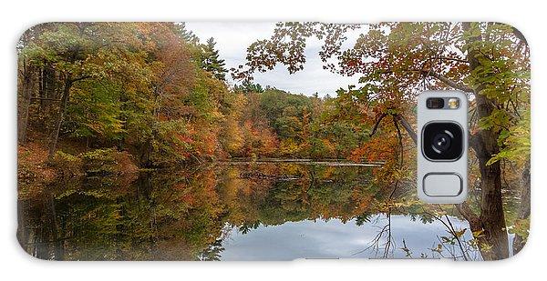 Autumn At Hillside Pond Galaxy Case