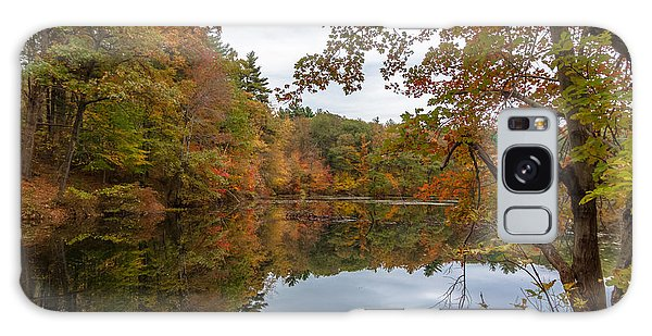 Autumn At Hillside Pond Galaxy Case