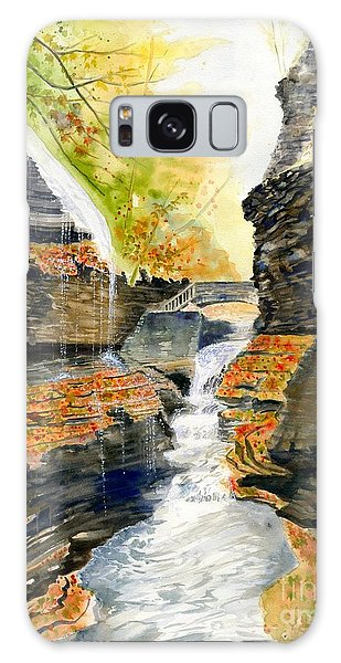 Autumn At Rainbow Falls  Galaxy Case by Melly Terpening