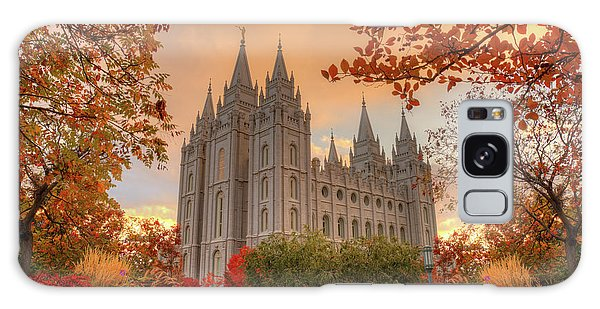 Autumn At Temple Square Galaxy Case