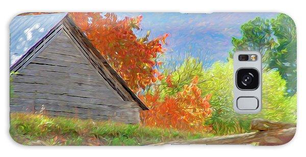 Autumn Barn Digital Watercolor Galaxy Case
