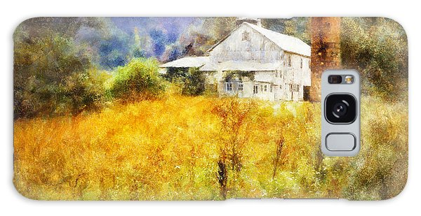 Autumn Barn In The Morning Galaxy Case by Francesa Miller