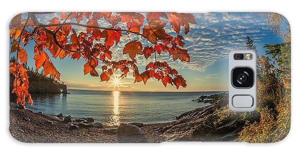 Autumn Bay Near Shovel Point Galaxy Case