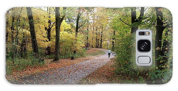 Autumn Bicycling Galaxy Case by Felipe Adan Lerma
