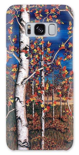 Autumn Birch Forest Galaxy Case