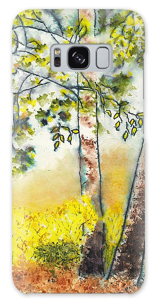 Autumn Birch Trees Galaxy Case