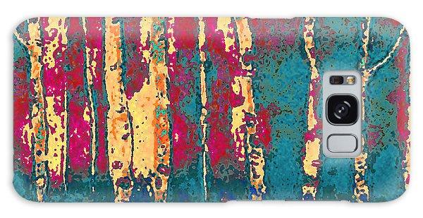 Autumn Birches Galaxy Case