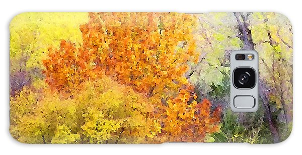 Galaxy Case featuring the digital art Autumn Blaze  by Shelli Fitzpatrick