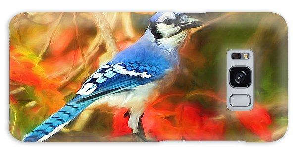 Autumn Blue Jay Galaxy Case by Tina LeCour