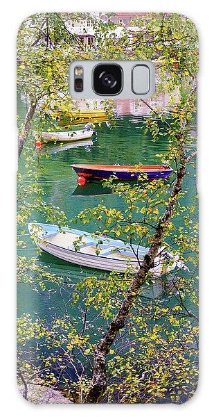 Autumn. Boats Galaxy Case