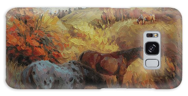 Equine Galaxy Case - Autumn Browsing by Steve Henderson
