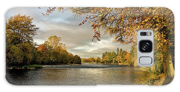 Autumn By The River Ness Galaxy Case