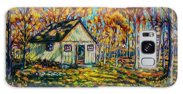 Autumn Cabin Trip Galaxy Case