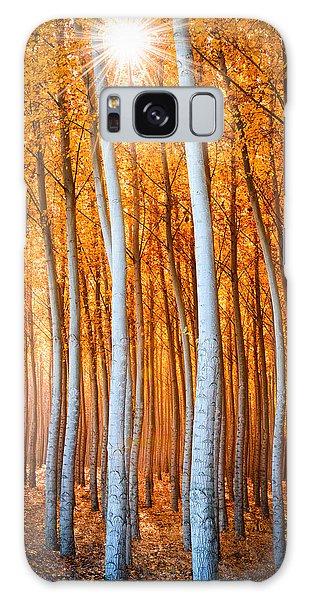 Galaxy Case featuring the photograph Autumn Canopy Burst by Dan Mihai