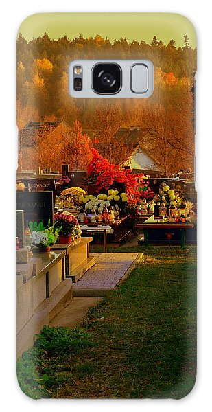 Autumn Cemetery Galaxy Case