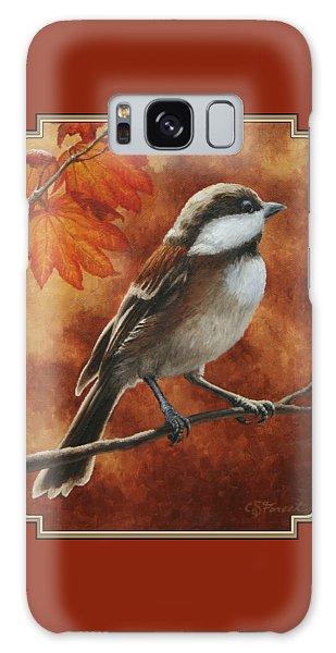Autumn Chickadee Galaxy S8 Case