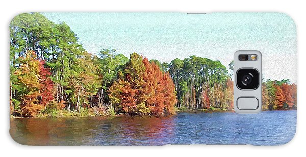 Autumn Color At Ratcliffe Lake Galaxy Case