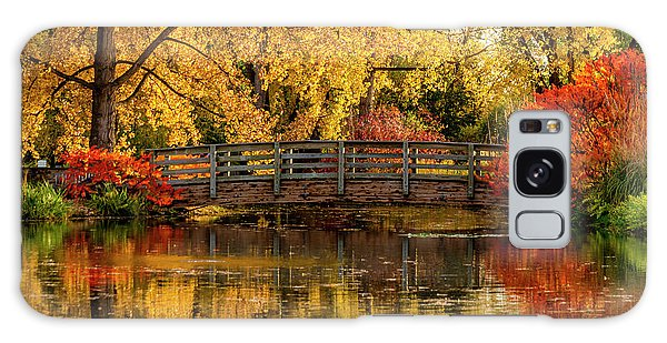 Autumn Color By The Pond Galaxy Case