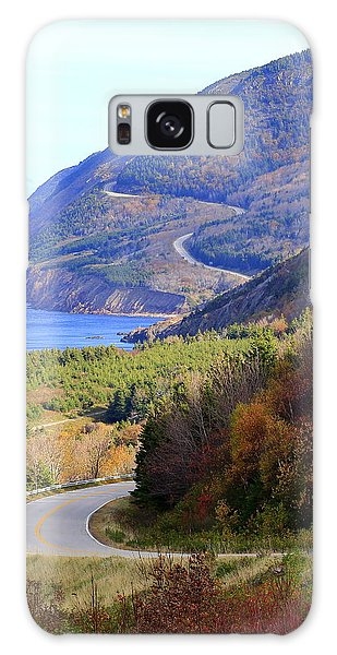 Autumn Color On The Cabot Trail, Cape Breton, Canada Galaxy Case