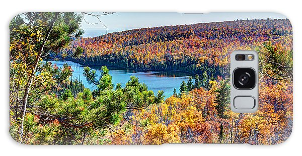 Autumn Colors Overlooking Lax Lake Tettegouche State Park II Galaxy Case
