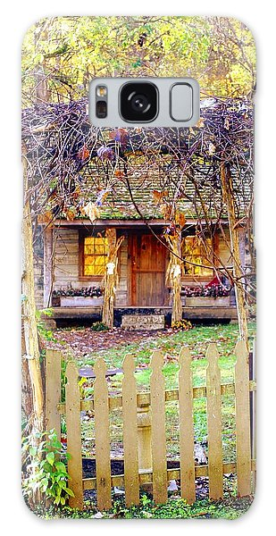 Autumn Cottage Galaxy Case by Diane Merkle