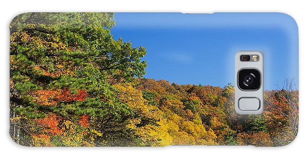Autumn Country Roads Blue Ridge Parkway Galaxy Case