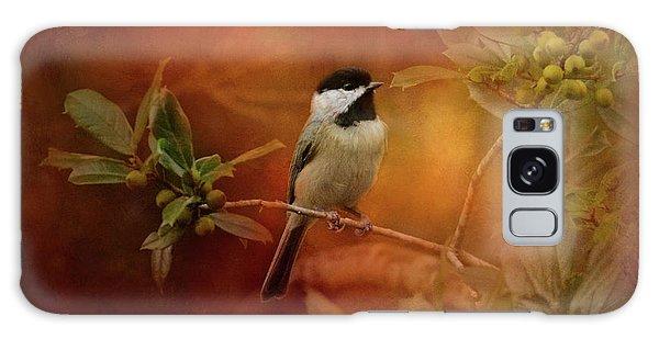 Autumn Day Chickadee Bird Art Galaxy Case by Jai Johnson