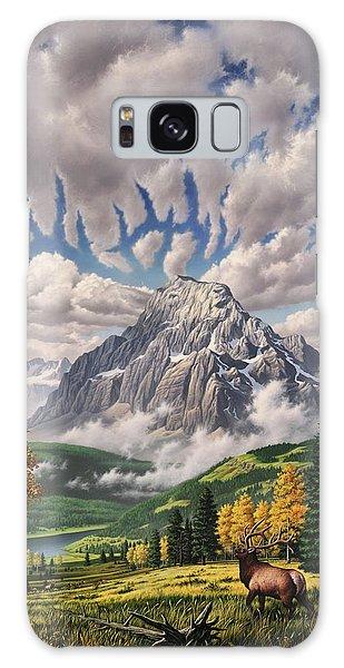 Mountain Lake Galaxy Case - Autumn Echos by Jerry LoFaro