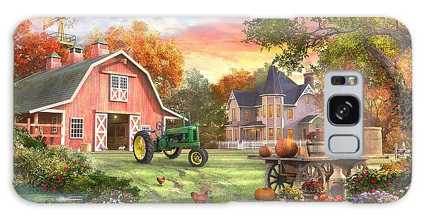 John Deere Galaxy Case - Autumn Farm by Dominic Davison
