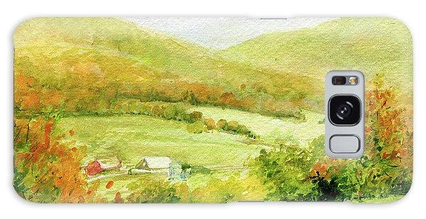 Autumn Farm In Vermont Galaxy Case