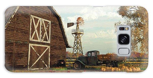 Autumn Farm Scene Galaxy Case