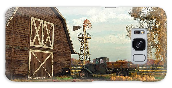 Autumn Farm Scene Galaxy Case