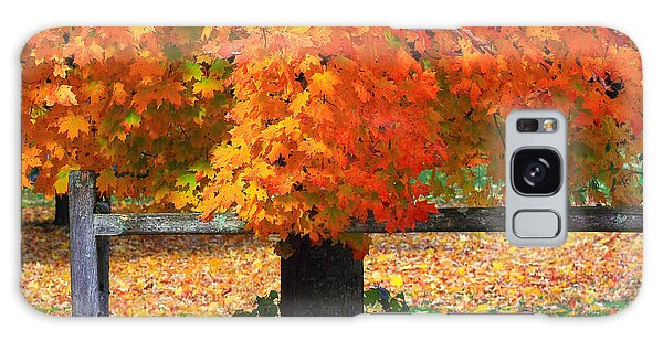 Autumn Fence Galaxy Case