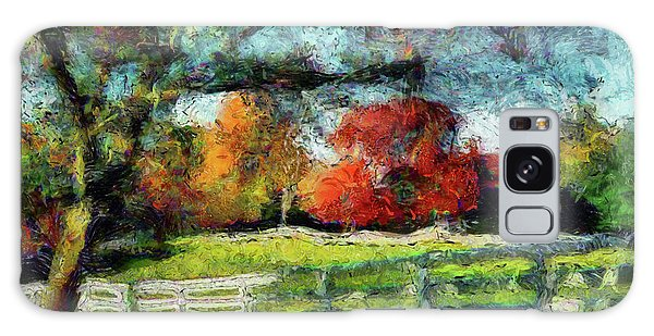 Autumn Field On The Farm Galaxy Case