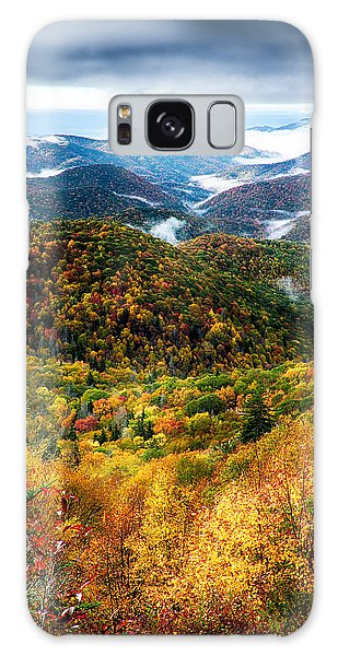 Autumn Foliage On Blue Ridge Parkway Near Maggie Valley North Ca Galaxy Case