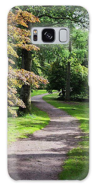 Galaxy Case featuring the photograph Autumn Forest Path by Scott Lyons